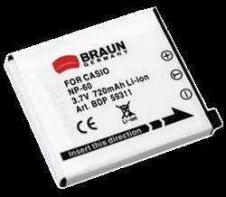 Braun akumulátor - NP-60 Casio