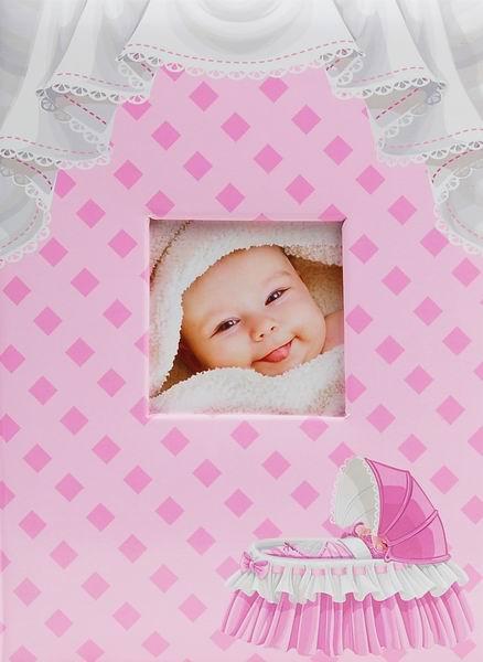 Fotoalbum 10x15 pro 300 fotografií Crib růžové