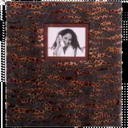 Klasické fotoalbum 60 stran SAFARI tmavé