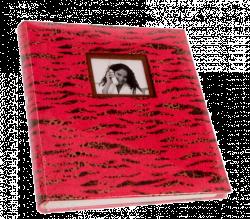 Klasické fotoalbum 60 stran SAFARI red