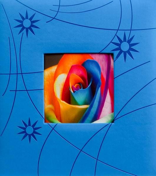Klasické fotoalbum 60 stran Colorful modré
