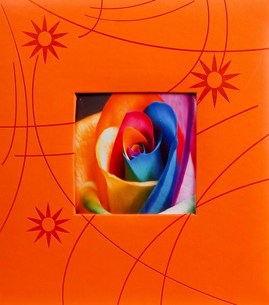 Klasické fotoalbum 60 stran Colorful modré oranžový