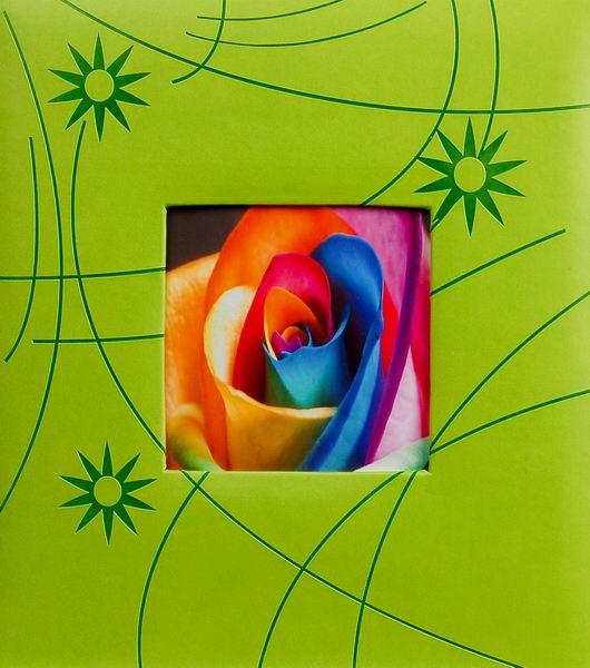 Klasické fotoalbum 60 stran Colorful modré zelený