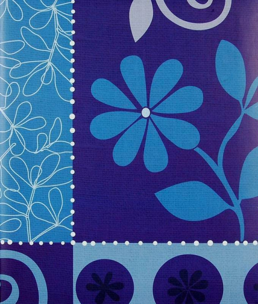 Klasické fotoalbum 100 stran Flower festival modré