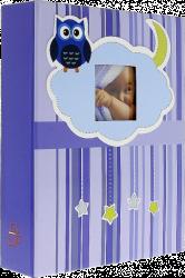 Album dětské 10x15 pro 200 fotek lepené OWL modré
