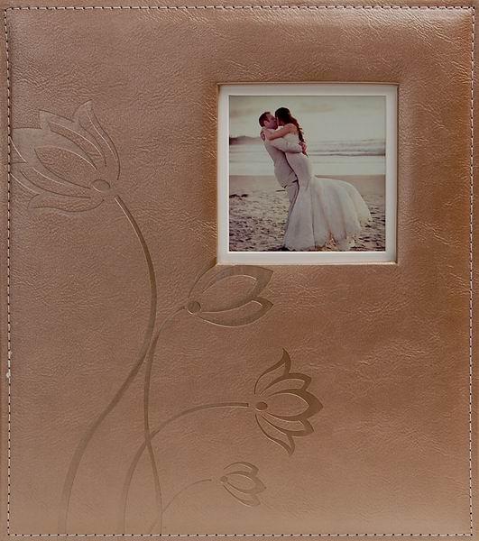 Svatební fotoalbum 60 stran Flower hnědé