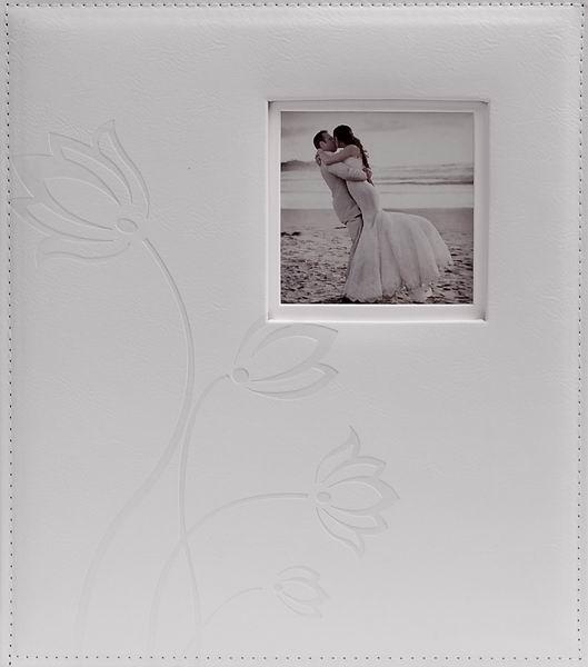 Svatební fotoalbum 60 stran Flower bílé