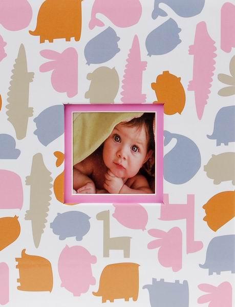 Album dětské 10x15 pro 304 fotek Dino růžové