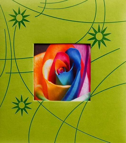 Klasické fotoalbum 100 stran Colorful zelené