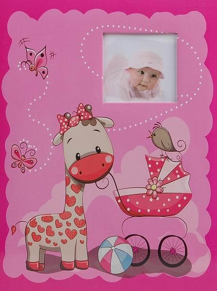 SAMOLEPÍCÍ album 40 stran Muzzle růžové