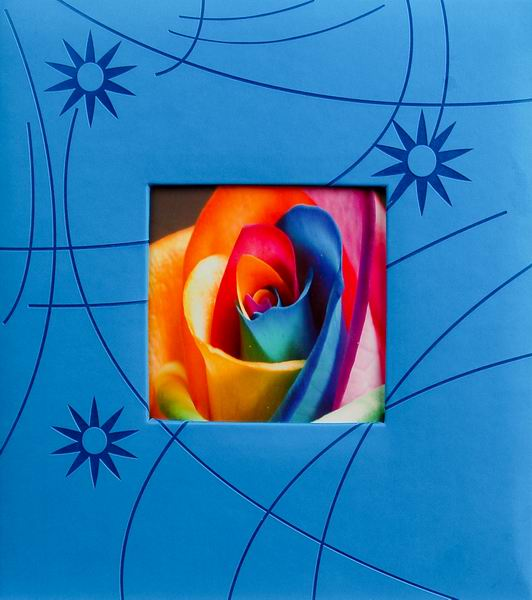 Klasické fotoalbum 100 stran Colorful modrý