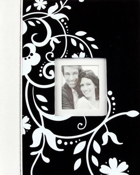 Svatební fotoalbum 20 stran Decorative černé