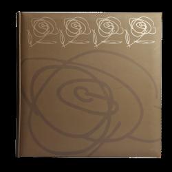 Klasické fotoalbum 100 stran Wild Rose hnědé