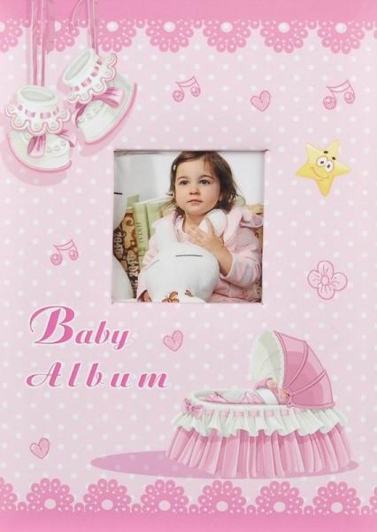 Fotoalbum 9x13 pro 200 fotografií Baby cradle růžový