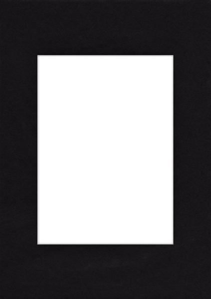 Pasparta 18x24/10x15 černá