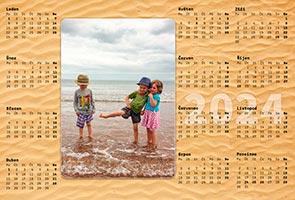 Ročný fotokalendár jednolistý