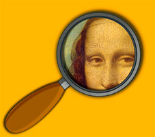 detail obrazu Mona Lisa