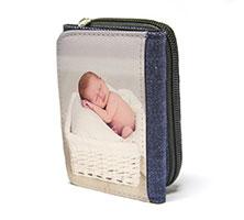 peňaženka s fotografiou dieťaťa