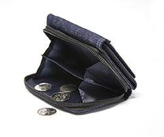 peňaženka a drobné mince